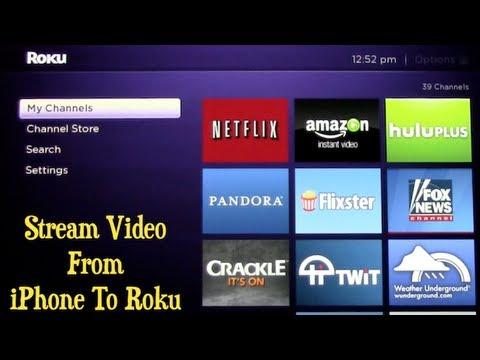 Stream Video From iPhone To Roku ~ Roku Updates IOS App
