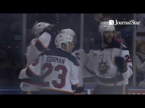 VIDEO: Highlights from Peoria Rivermen 4-3 shootout win over Macon Mayhem at Carver Arena on 1-13-17