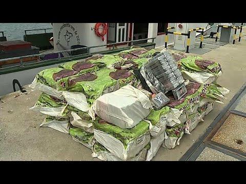 Saisie de plus d'une tonne de cocaïne sur un bateau brésilien