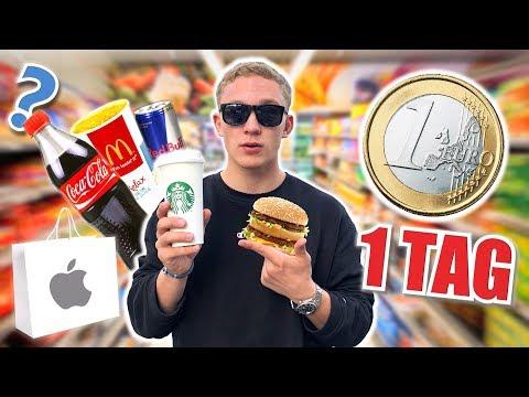 24 Stunden mit 1€ überleben I 1 TAG 1€ CHALLENGE