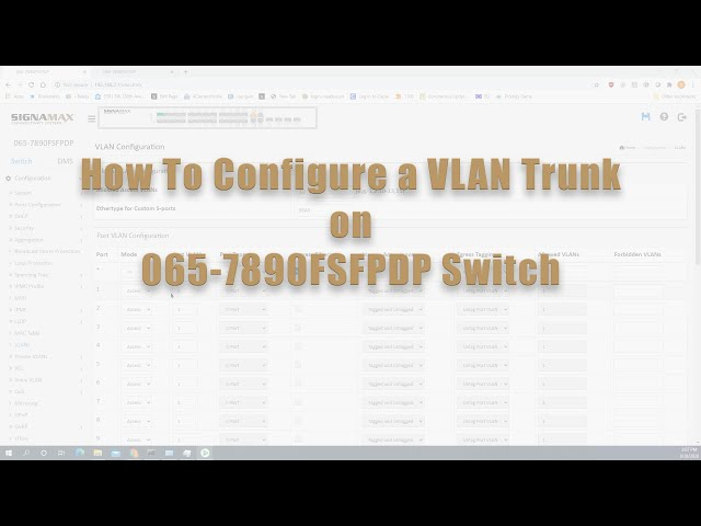 How to Configure a VLAN Trunk on 065-7890FSFPDP Switch