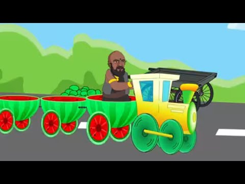Bahubali finger Family with watermelon train | bahubali driving watermelon train | Lotus baby TV