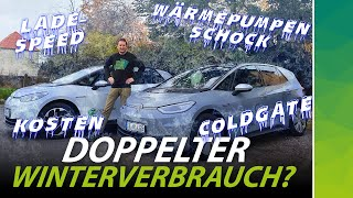 VW ID.3 winter problems: heat pump fail, consumption, fast charging, preheating, cost | English subs
