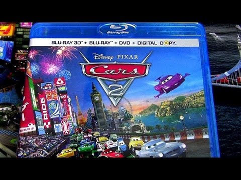 Cars 2 blu-ray dvd unboxing review official movie Walt ...