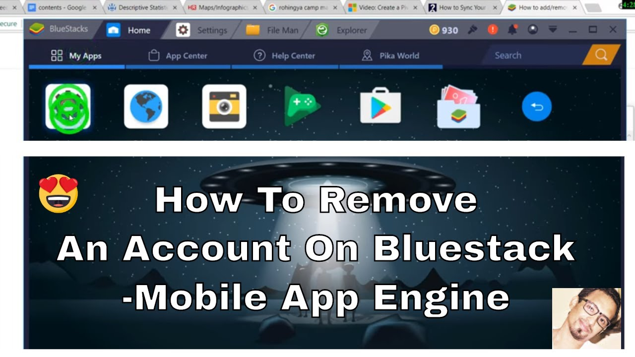 How to remove an account on BlueStacks | 2018 App Player Engine Tutorial