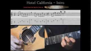 Guitar Tutorial 5 - The Eagles - Hotel California Intro - Full Tab