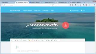 Summernote - простой и быстрый визуальный редактор. Установка и настройка