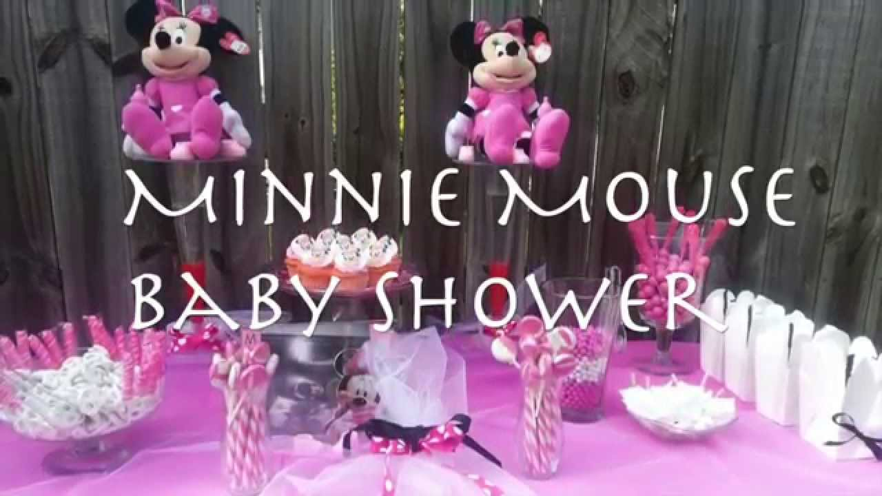 Minnie mouse themed baby shower youtube for Baby minnie mouse decoration ideas