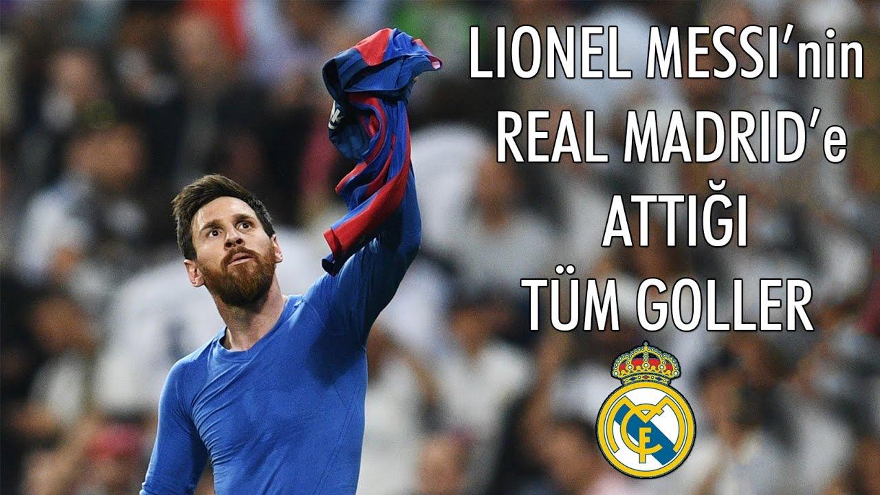 Lionel Messi'nin - Real Madrid'e Attığı Tüm Goller | Türkçe Spiker | [YENİ, 2017] • HD