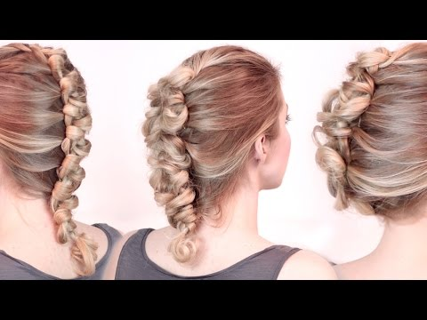 Rockstar hairstyles ★ Faux hawk braid/updo tutorial ★ Loop dutch braid, medium long hair