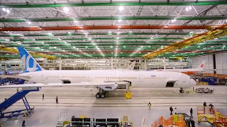 first Boeing 787-10 getting ready for rollout celebration