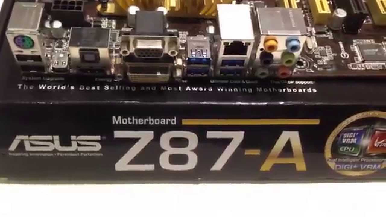 Asus Z87-A Motherboard 4K HD Unbox