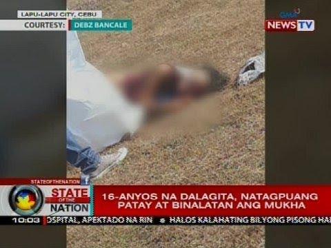 16-anyos na babae sa Cebu, natagpuang patay at binalatan ang mukha