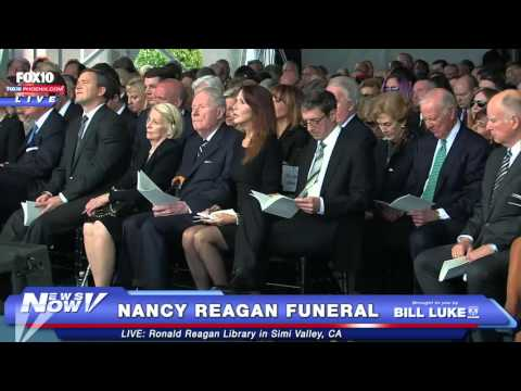 Nancy Reagan Funeral at Ronald Reagan Library in Simi Valley - FULL - FNN