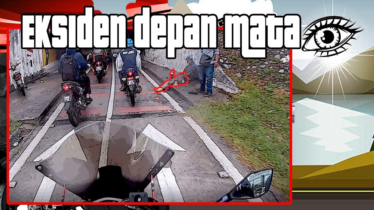 Eksiden Depan Mata | Rainy Day Ride | Lorong Motosikal Federal Highway Bahaya
