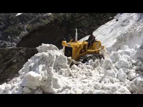 Clearing snow from the road himachal pradesh
