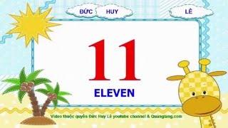 Dạy bé học số tiếng Anh từ 1 đến 20 [Giọng cực chuẩn]