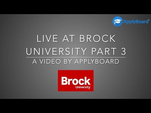 We are live at Brock University - Video 3