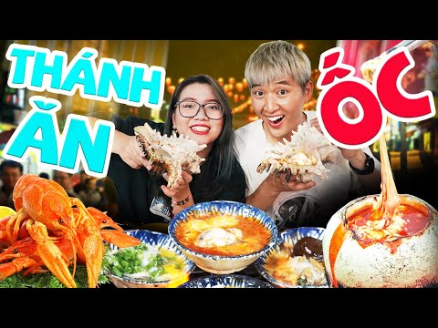 Ăn Ốc đêm cùng Thánh Ăn TV tại quận 4 | Dừa Hỏa Diệm Sơn béo ngậy | ĂN ĐÊM CÙNG WOOSSI