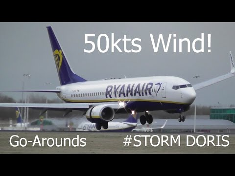 Storm Doris | Crazy Windshear & Go-Arounds at London Stansted Airport
