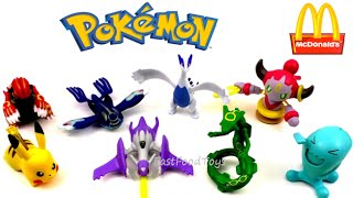 2015 McDONALD'S POKEMON OMEGA RUBY ALPHA SAPPHIRE NINTENDO 3DS SET OF 8 HAPPY MEAL KIDS TOYS REVIEW
