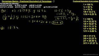 Fractional Equivalent of Percentage-2