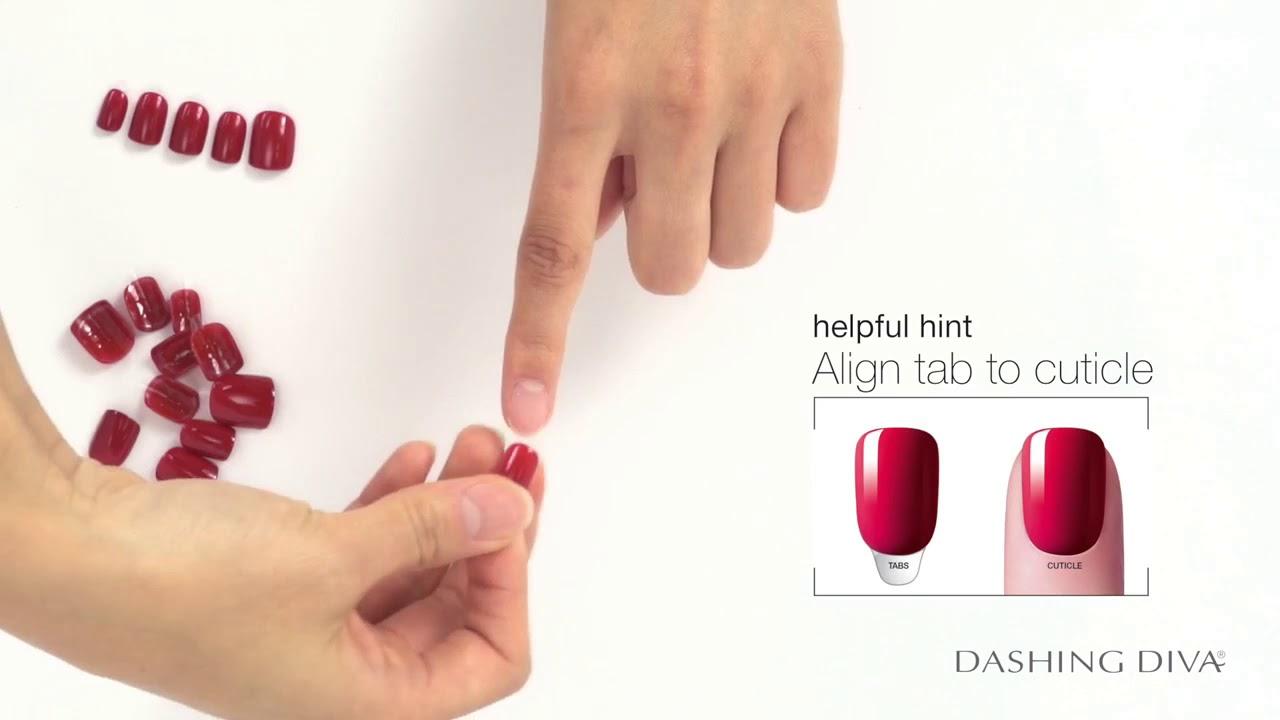How to use Dashing Diva Magic Press Nails - YouTube