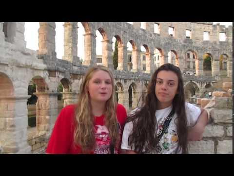 Brynn & Alyssa at the Coliseum in Pula