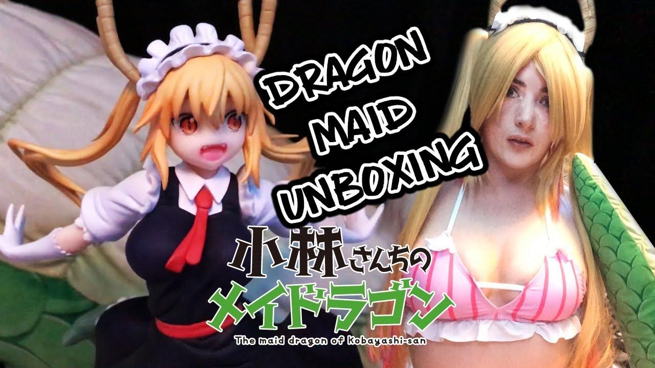 UNBOXING DRAGON MAID Tohru + Tohru Cosplay [Bikini Unboxing]  アンボクシング小林さんちのメイドラゴントールフィギュア+トールコスプレ