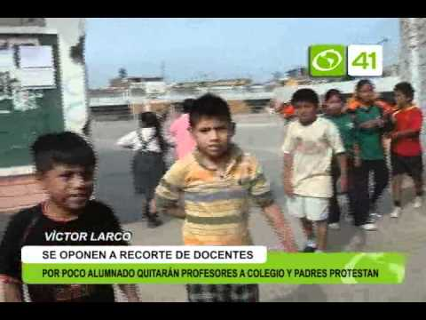 Quitarán profesores a colegio por poco alumnado - Trujillo