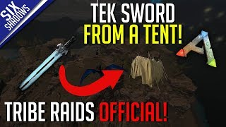 I FOUND A TEK SWORD IN A TENT! | Tribe Raids Official PvP - Ark: Survival Evolved