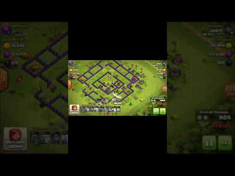 Best attack on townhall 9 / best army of townhall 9 / townhall 9 pe 3 star kese laye 3 star