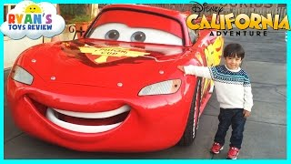 GIANT LIGHTNING MCQUEEN and Amusement Rides for Kids at Disneyland thumbnail