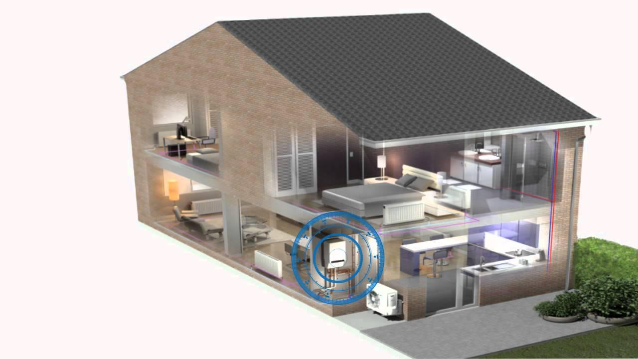 animation pompe chaleur daikin hybride youtube. Black Bedroom Furniture Sets. Home Design Ideas
