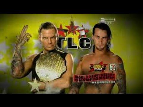 Jeff Hardy vs CM Punk l Summerslam 2009 l TLC Match l Español latino l Combates WWE