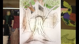 How to Draw a Tree House Using Two-Point Perspective