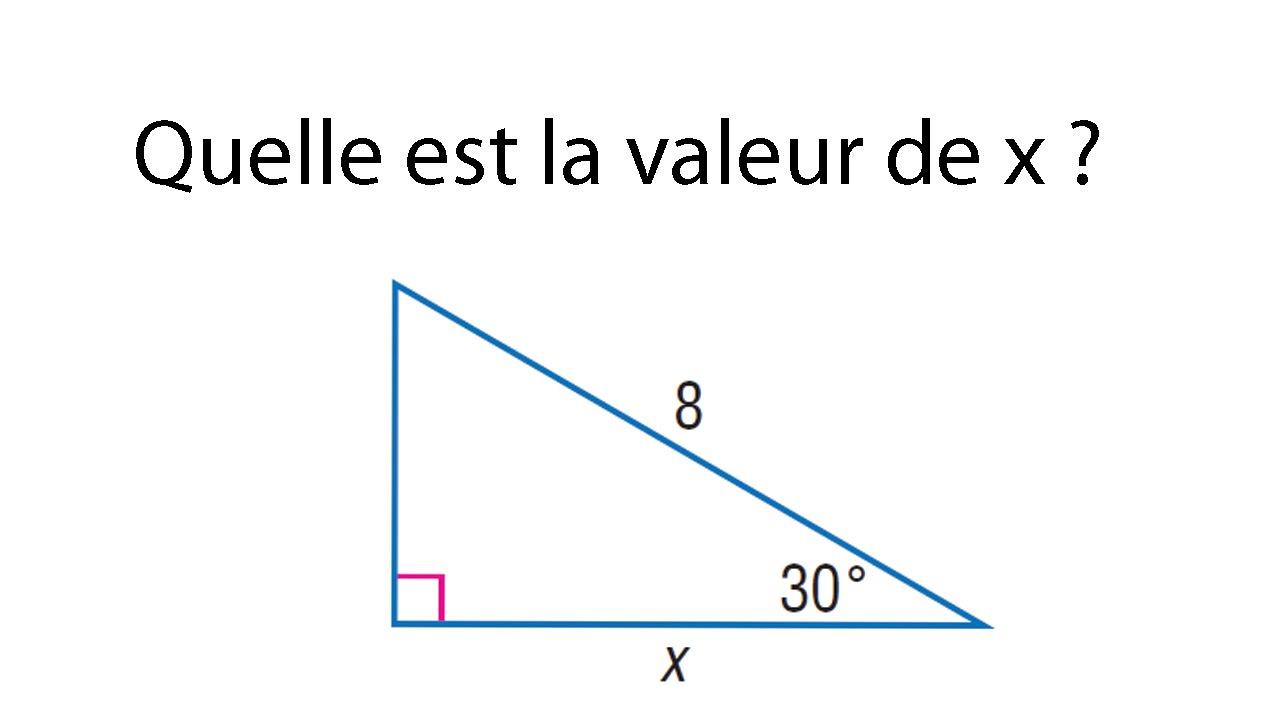 exercice rapport trigonom u00e9trique cosinus