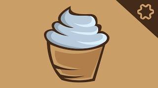 ice Cream Logo Design / Adobe illustrator tutorial / How to Design ice Cream Cup Logo Design