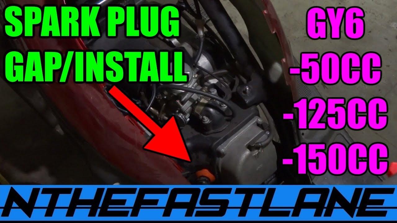 medium resolution of  spark plug gap and installation gy6 50cc 125cc 150cc bbk scooter