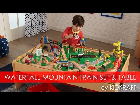Children's Waterfall Mountain Train Set & Table - Toy Review