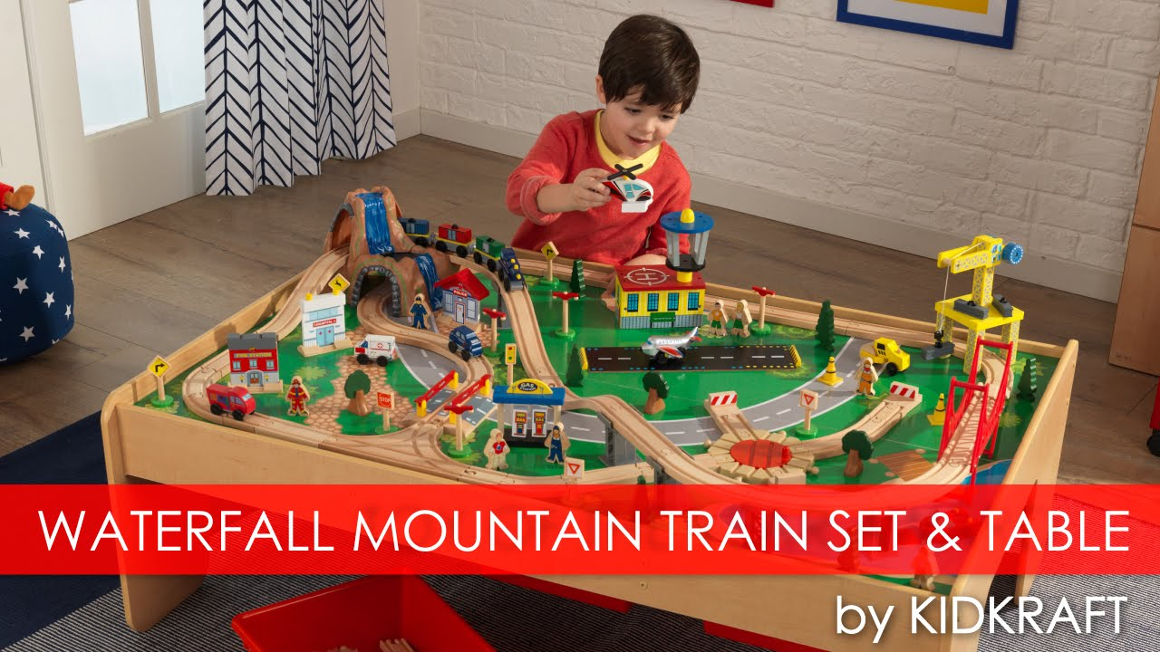 Children\'s Waterfall Mountain Train Set & Table - Toy Review - YouTube