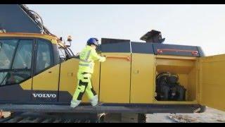 Volvo EC950E crawler excavator: Always-on