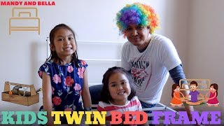 How to assemble Zinus 12 inch metal platform bed frame with headboard and footboard with pinoy kids