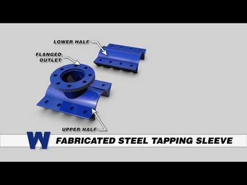 Fabricated Steel Tapping Sleeve  - WaterworksTraining.com