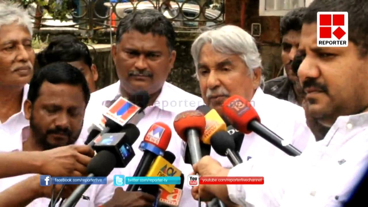 Oommen Chandy Commenting about the corruption allegations raised against his government
