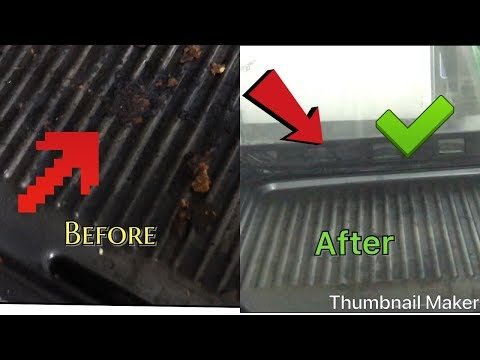 Quick Grill cleaning,no hot water it's easy