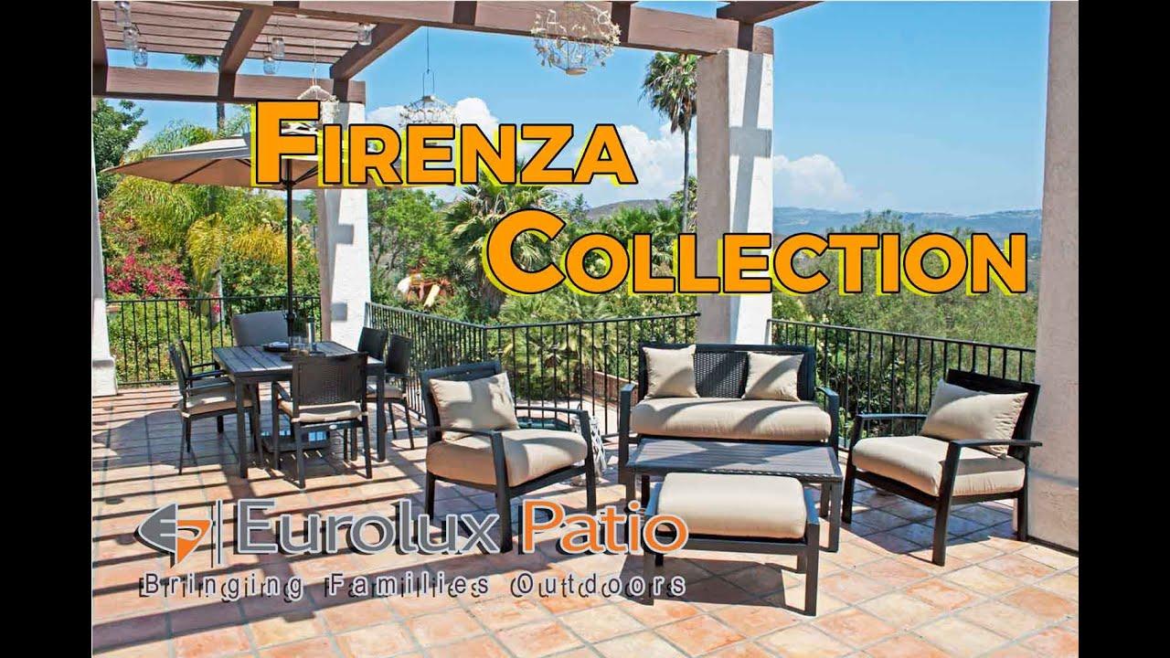 Firenza Outdoor Patio Wicker Furniture Conversation U0026 Dining Set. Eurolux  Patio
