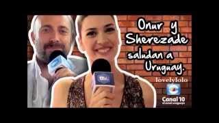Halit & Berguzar are sending greetings to Uruguay and channel 10