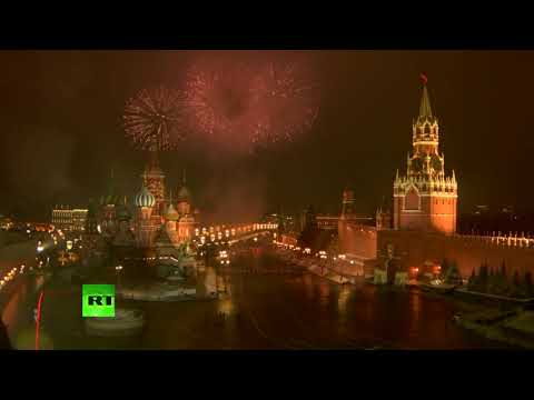 Moscow welcomes 2021 | Fireworks over Red Square