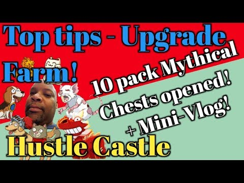 Hustle Castle - 10 Mythical Chests Opened!! - Top Tips For